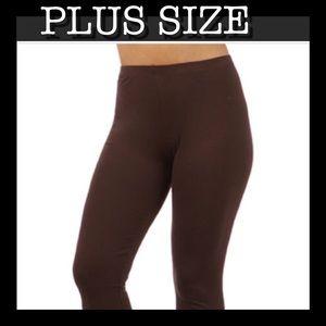 Pants - PLUS SIZE CHOC BROWN